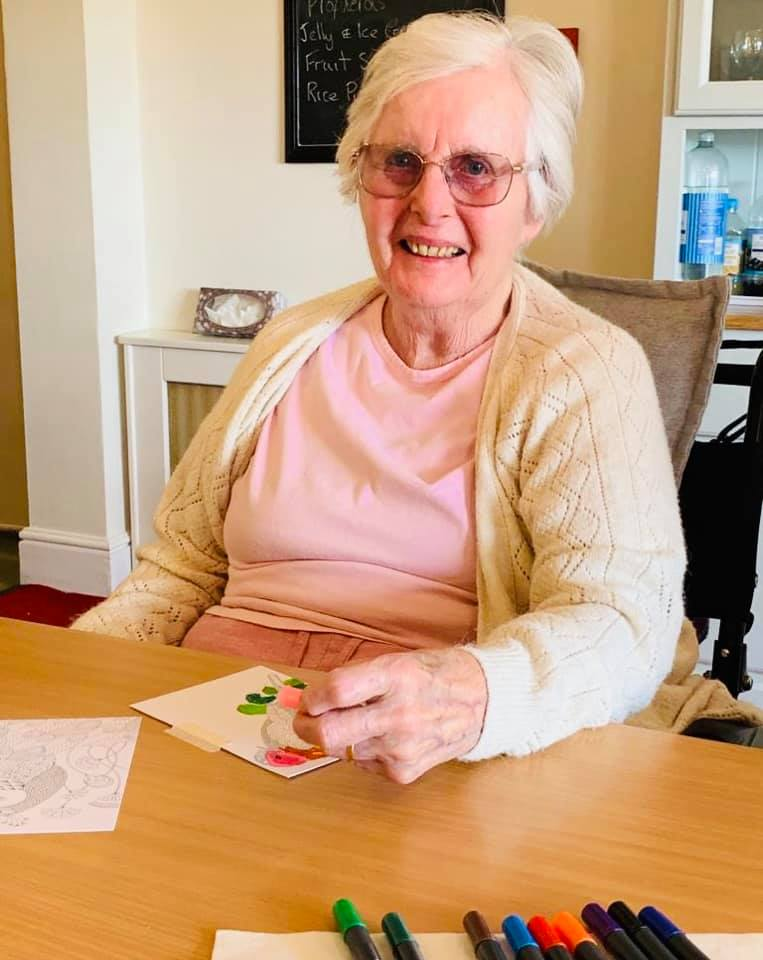 Card decorating | Country Lodge Nursing Home in West Sussex