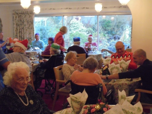 Christmas Lunch 2017 at our Worthing Care Home