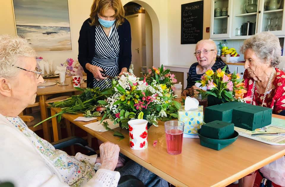 Flower arranging  | Country Lodge Nursing Home West Sussex