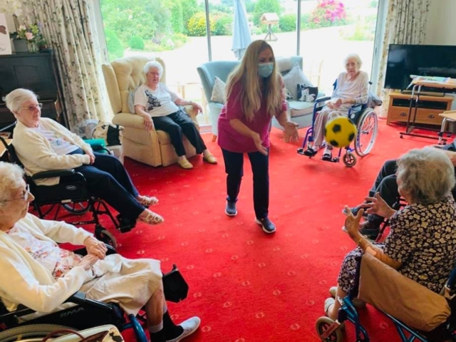 Lounge football | Country Lodge Nursing Home in West Sussex