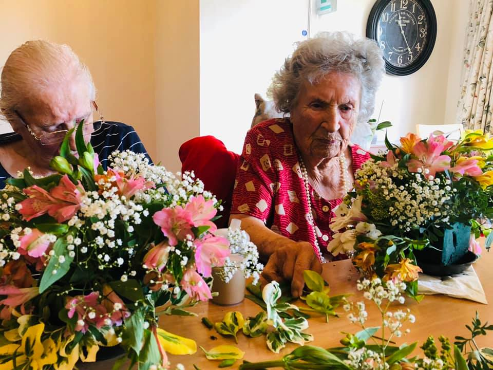 Flower arranging at the home | Country Lodge Nursing Home West Sussex