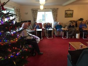 Country Lodge residents enjoying entertainment by Tickled Pink
