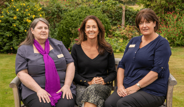 Management team at Country Lodge Nursing Home in West Sussex